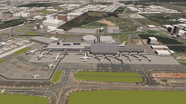Imagem píer e ampliação do Terminal de Passageiros 1